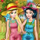 Princesses Working in the Garden