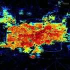 Cidade apagada: Imagens aéreas da Nasa mostram impacto ...