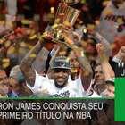 LeBron James conquista primeiro título da NBA, em 2012