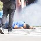 SP: ato de professores tem bomba, gás e balas de borracha