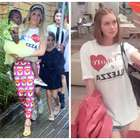 Giovanna Ewbank e Marina Ruy Barbosa vestem camiseta igual
