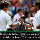 Wimbledon: Federer é eliminado nas quartas após cinco sets