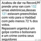 #Verificamos: PF não apreendeu van com 152 urnas manipuladas