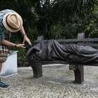 """Escultura """"Jesus sem Teto"""" é inaugurada no Rio de Janeiro"""