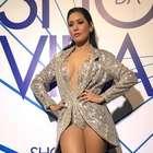 Simaria usa body com blazer de paetês. 'Transmite ...