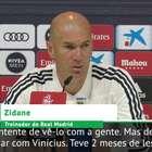 """LA LIGA: Zidane sobre Vinícius Jr: """"Não vamos precipitar ..."""