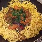 Yakisoba de legumes simples