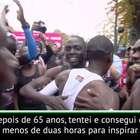 ATLETISMO: Eliud Kipchoge após concluir maratona em ...