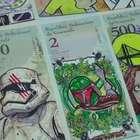 Artista valoriza dinheiro venezuelano com suas pinturas