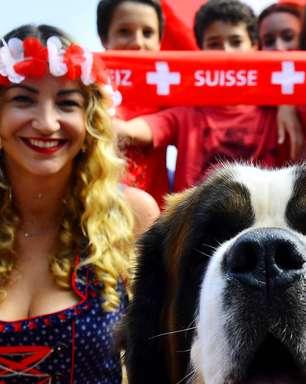Rio: torcida se reúne na Casa Suíça para assistir ao jogo