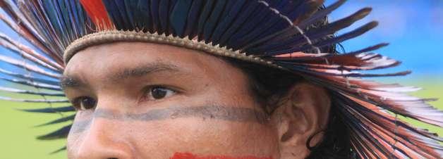 Artilheiro pintado marca, mas 1º time indígena perde para Paysandu