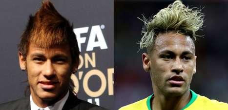 Moicano, loiro, emo: a evolução (ou não) capilar de Neymar