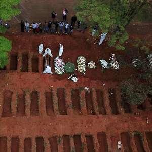 Brasil registra 1.394 mortes e mais de 56 mil casos em 24h
