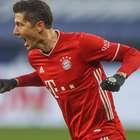 Com marca histórica de Lewandowski, Bayern goleia e dispara