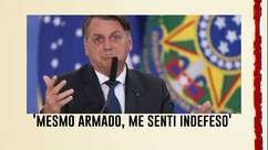 Rosa usa Bolsonaro vítima de roubo como exemplo, 'mesmo armado, me senti indefeso' disse na época