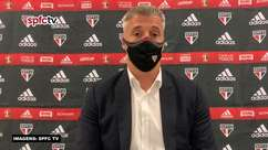 """SÃO PAULO: Crespo minimiza fim da sequência de vitórias mas exalta empate contra o Corinthians no último minuto: """"É o tipo de jogo que precisamos para seguir crescendo"""""""