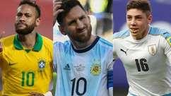 Onze entre os 15 mais valiosos da Copa América são do Brasil