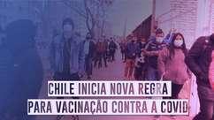 Com filas, Chile inicia nova regra para vacinação contra a covid