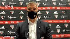"""SÃO PAULO: Crespo reconhece preocupação com bola aérea defensiva da equipe mas pondera: """"É uma circunstância do jogo"""""""