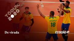 Após dois sets difíceis, Brasil vira e vence seleção argentina masculina de vôlei