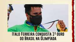 Italo Ferreira conquista 1º ouro do Brasil na Olimpíada de Tóquio e faz história no surfe