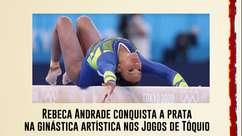 Rebeca Andrade conquista a prata na ginástica artística nos Jogos de Tóquio