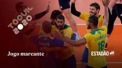 Em disputa acirrada, Brasil vence a França por 3 sets a 2 no vôlei masculino