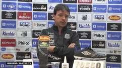 """SANTOS: Diniz justifica 'recuo' na pressão após abrir o placar contra a Chapecoense e garante padrão ofensivo da equipe: """"Sempre pressionamos os adversários"""""""