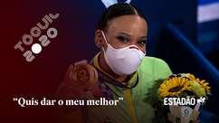 """""""Estava tranquila, não tinha cobrança para voltar com medalha"""", conta Rebeca Andrade"""