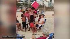 FLAMENGO: Renato Gaúcho e torcedores cantam o hino do clube em praia do Rio