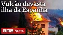 Vulcão 'apaga' vilas da ilha de La Palma, na Espanha