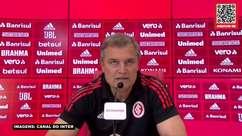 """INTERNACIONAL: Aguirre reconhece necessidade de melhoras na equipe, mas valoriza sequência sem perder: """"Estou gostando do que temos feito"""""""