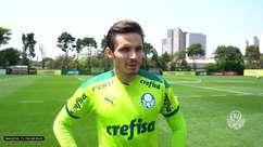 """PALMEIRAS:  Raphael Veiga relembra semi da temporada passada antes de partida contra o Galo pela Libertadores: """"Temos que trazer a memória aquilo que nos dá esperança"""""""