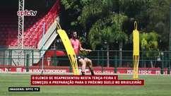 SÃO PAULO: Equipe se reapresenta no CT da Barra Funda e realiza treino de olho no duelo contra a Chapecoense no fim de semana