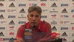 """FLAMENGO: Renato Gaúcho critica jornalista que noticiou sobre decisão do treinador em poupar jogadores no Brasileiro: """"Irresponsável e mentiroso"""""""