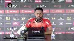 """ATLÉTICO-MG: """"Todo jogo é uma final"""", destaca Calebe ao falar de suas previsões para o confronto contra o Atlético-GO"""