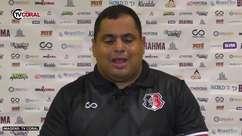 "SANTA CRUZ: Leston Jr. agradece apoio da torcida após eliminação na pré Copa do Nordeste: ""Apoiou os 90 minutos"""