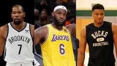 Veja o Favoritômetro do LANCE! para a temporada 2021/2022 da NBA