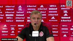 """INTERNACIONAL: Aguirre discorda que time tenha recuado no segundo tempo e analisa partida contra o RB Bragantino: """"sentimos esse empate como uma derrota"""""""