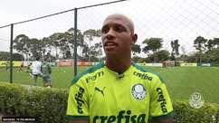 """PALMEIRAS: Danilo celebra primeiro jogo no profissional com a presença da torcida: """"Muito feliz, ainda mais por ouvir gritarem meu nome no início da partida"""""""