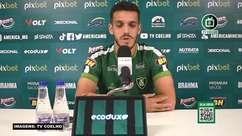 """AMÉRICA-MG: Lucas Kal avalia trabalho de Marquinhos Santos: """"Aos poucos ele vai acrescentando boas coisas a nossa equipe"""""""