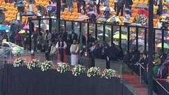 Líderes homenageiam Mandela em encontro histórico