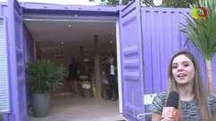Casa em container tem piscina, jacuzzi e quartos na Casa Cor