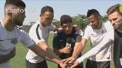 Quarteto Santástico! Jogadores do Santos brincam com apelido