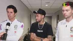De volta, Neymar agradece médico e fisioterapeuta da Seleção