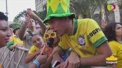 """Brasileiros comemoram vaga e provocam: """"chupa, Alemanha"""""""