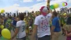 Invasão verde e amarela! Brasileiros ocupam Kazan pré-jogo