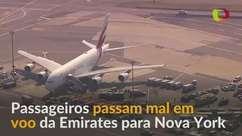 Cerca de 100 passageiros passam mal em voo para Nova York
