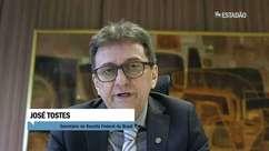 Entrevista com o secretário da Receita Federal, José Tostes