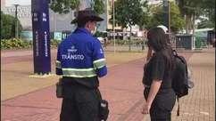 Transitar realiza ação do Maio Amarelo na Avenida Brasil